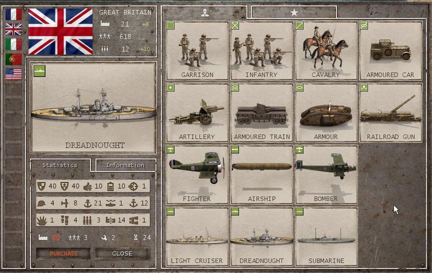 commander great war units