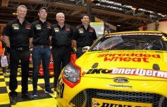Motorbase Team with the new Shredded Wheat liveried Ford Focus