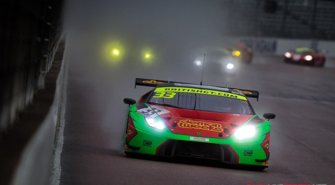 Minshaw and Keen on pole in Rockingham British GT Race