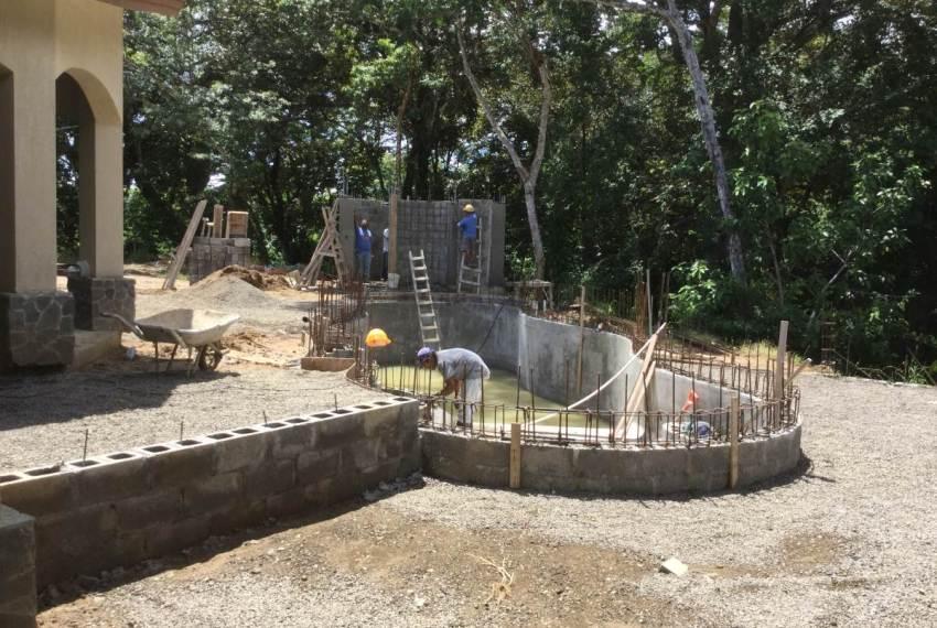 Custom home design building pool