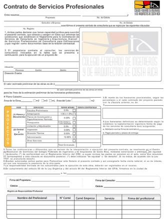 Costa Rica Designing Services Agreement