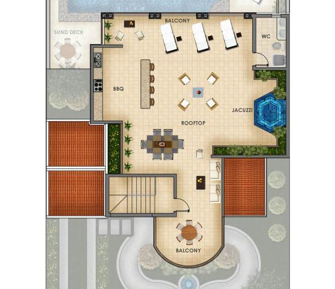 roof deck floor plan investment property