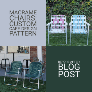 macrame chairs custom cafe design pattern