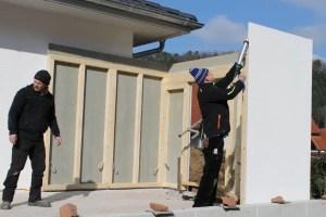 Bild Aufbau Garage Holzständerbauweise 2