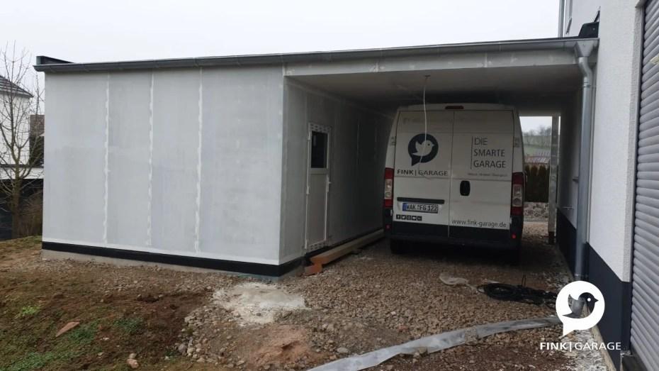 Eimzelgarage mit Überdachung-Carport