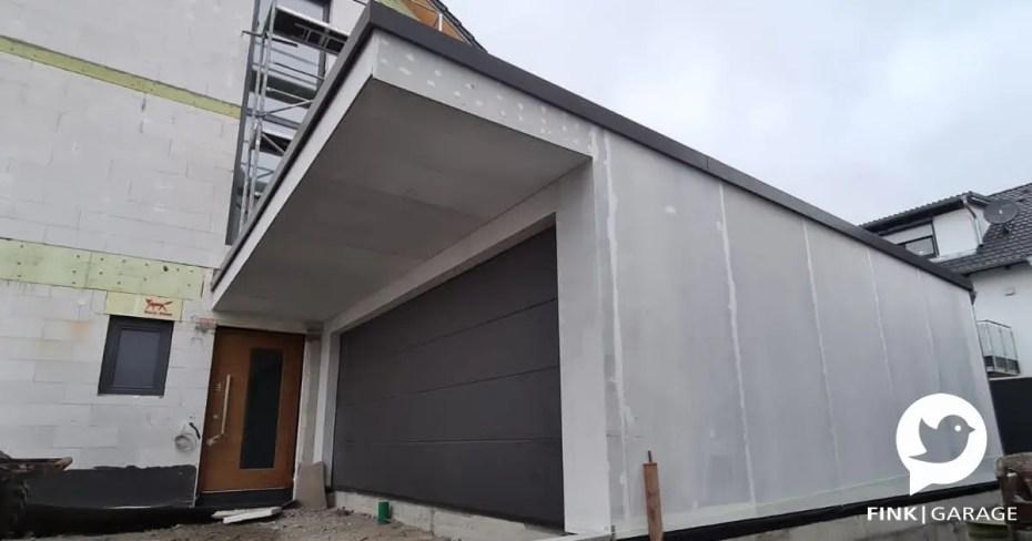 Großraumgarage mit Vordach 1300mm