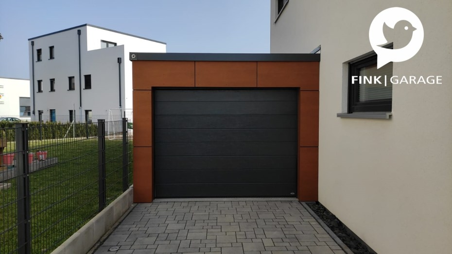 Einzelgarage_Fassadenplatten