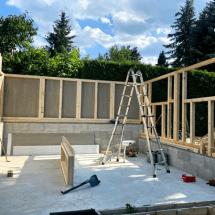 Fink Garage Seitenwände Holzständerbauweise