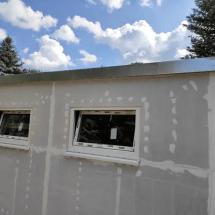 Fink Garage Seitenwand mit Fenstern Holzständerbauweise