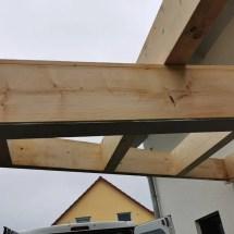 Fink Garage Vordach Trapezförmig Dachsparren