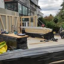 Fink Garage Aufbau der Seitenelemente