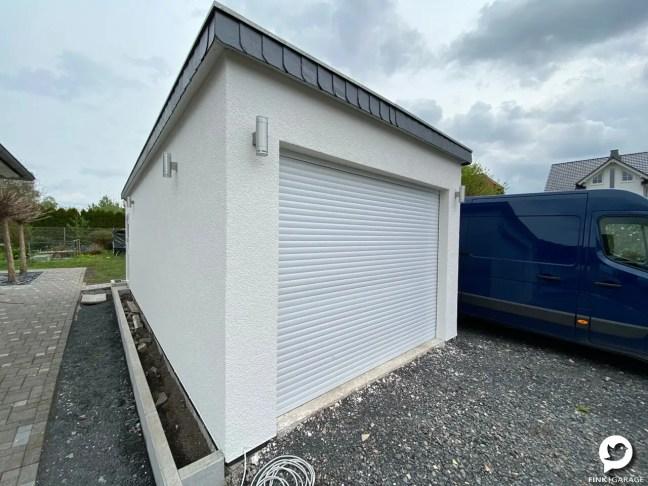 Fink Garage Holzständerbauweise Bausatz Frontseite