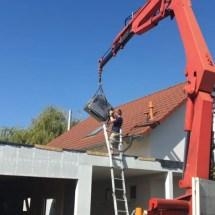 Fink Garage - EPDM-Folie per Kran aufs Dach