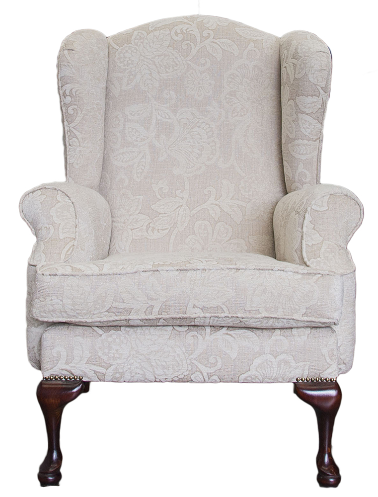 queen ann chairs teak lounge occasional finline furniture anne chair frank pattern cream