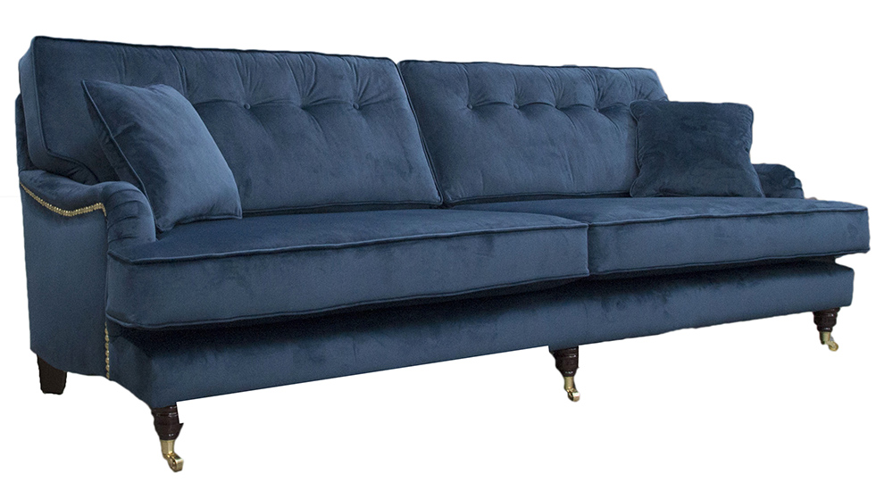 sofa 250cm beckett macy s holmes sofas and chairs range finline furniture bespoke sherlock finished at with button back in luxor pacific silver collection fabric