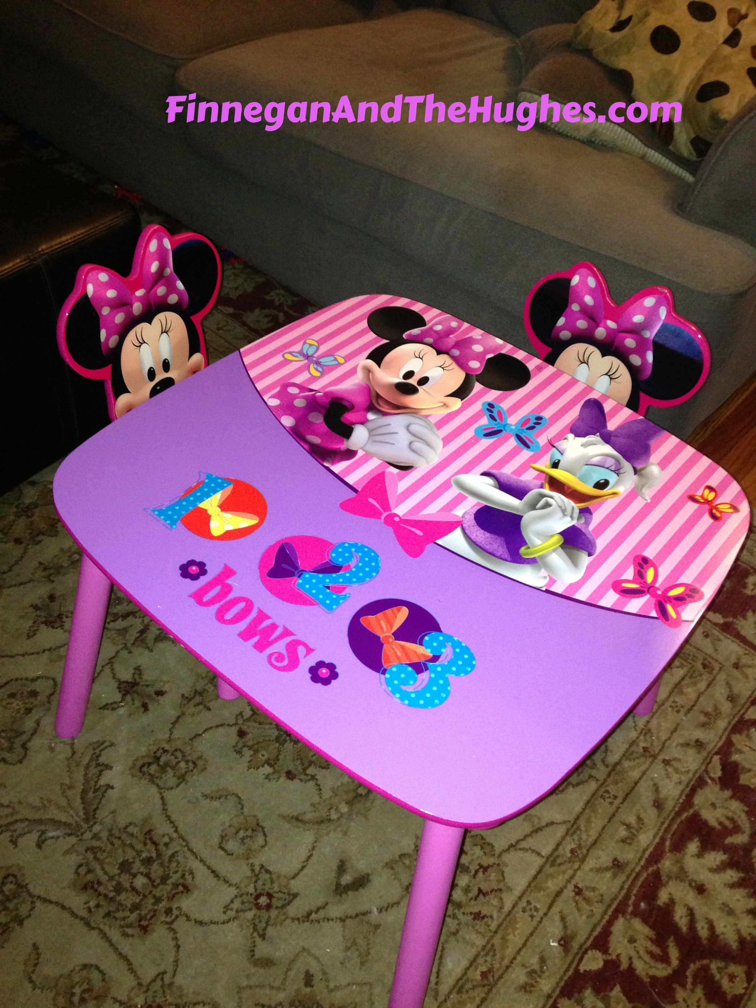 minnie table and chairs doc mcstuffins chair smyths mouse finnegan the hughes