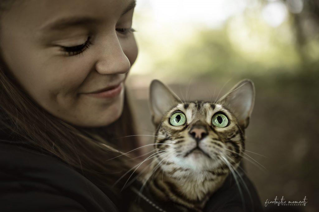 Katze und Besitzerin