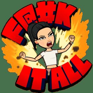 start a blog - f it all bitmoji
