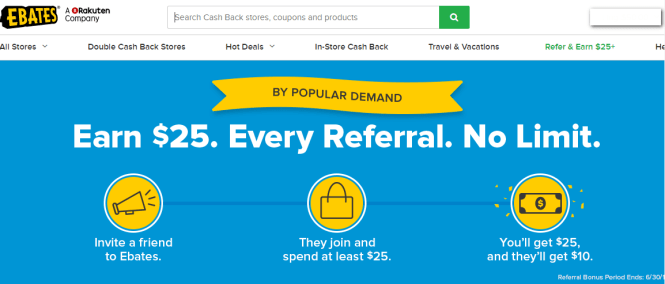 earn extra cash with Ebates - refer a friend