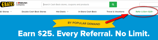 earn extra money with ebates - refer and earn