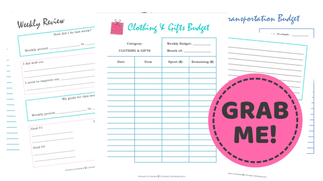 how to stop buying things and save money - budget binder