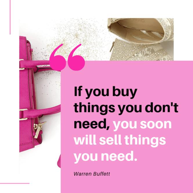 how to stop spending money quote by warren buffett
