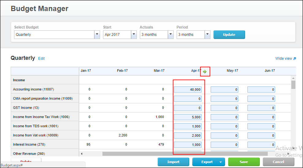 How to create budget in xero and compare it with actual numbers