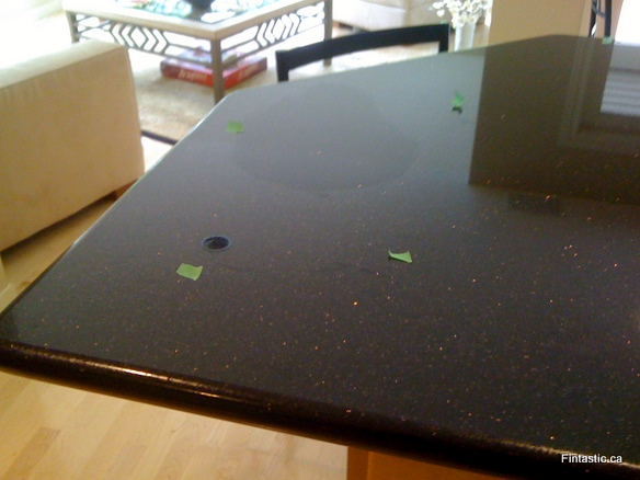 Granite Countertop stain damage  Fintastic Services