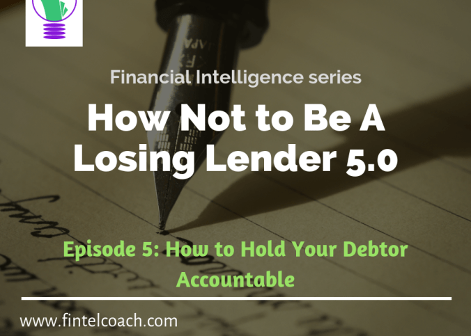 How not to be a losing lender 5.0, Fintel coach