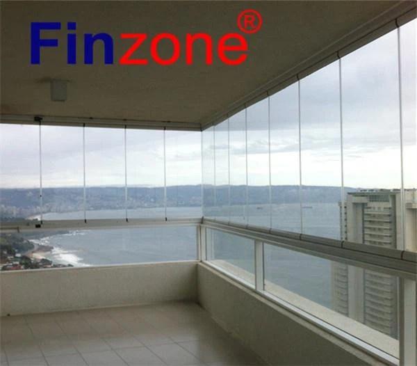 china aluminium frameless glass balcony