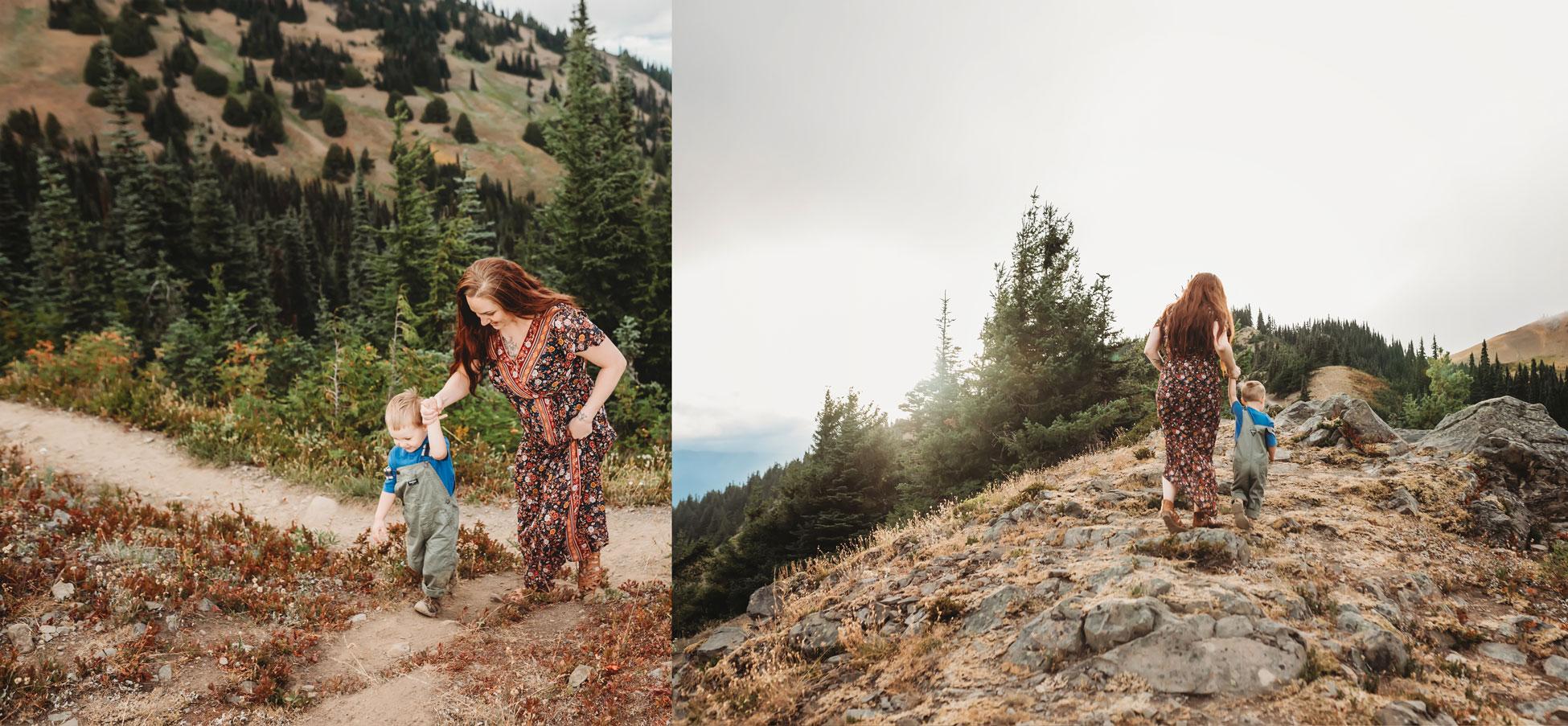 family at hurricane ridge