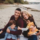 Snuggly fall family on Bainbridge Island