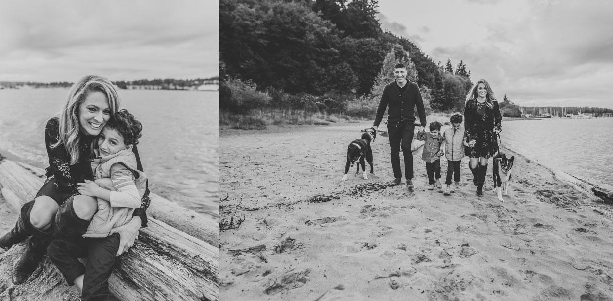 playful family on Bainbridge Island photo session