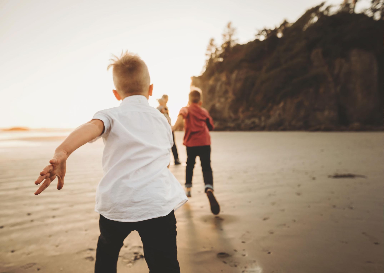 boys playing at washington beach