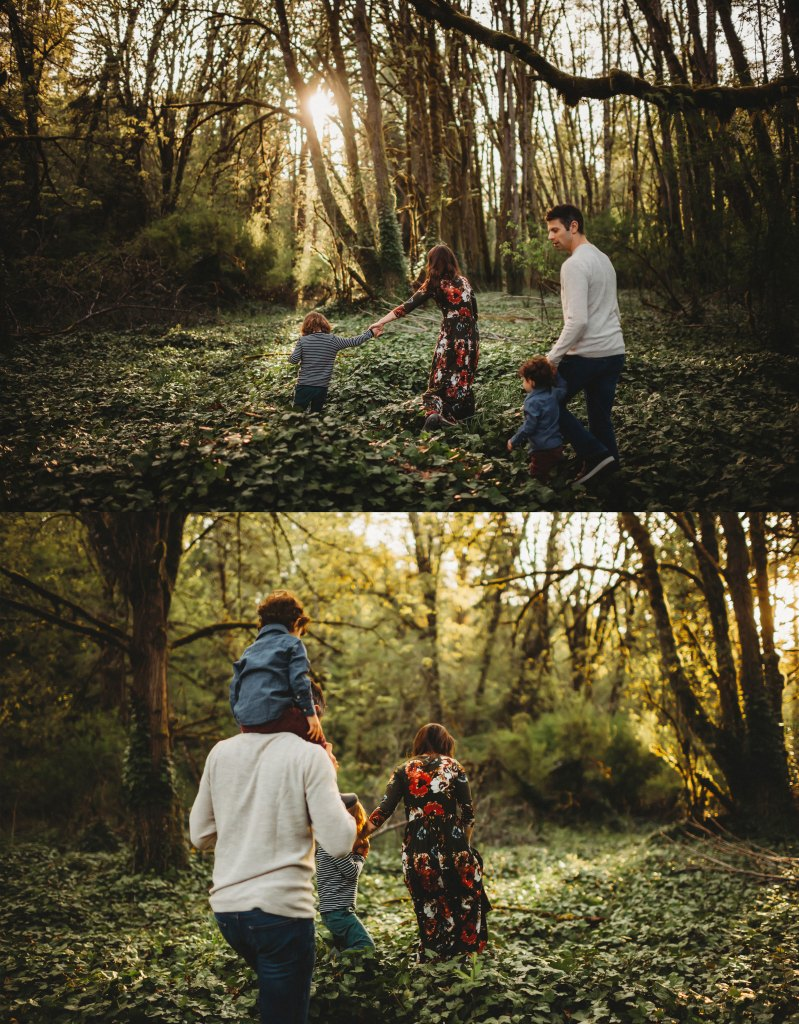 seattle family photography session in magical ivy
