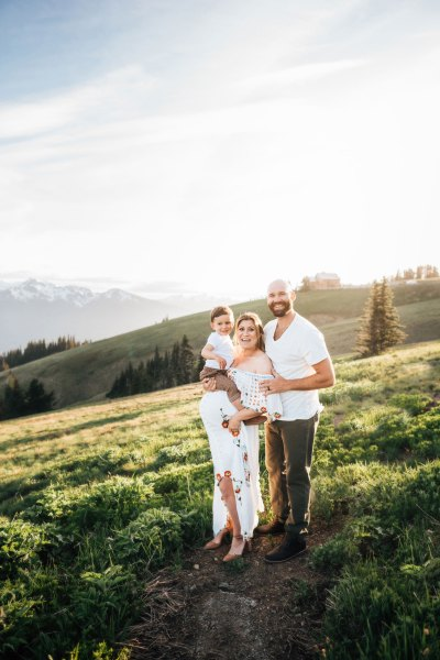 Cutest little family session at Hurricane Ridge