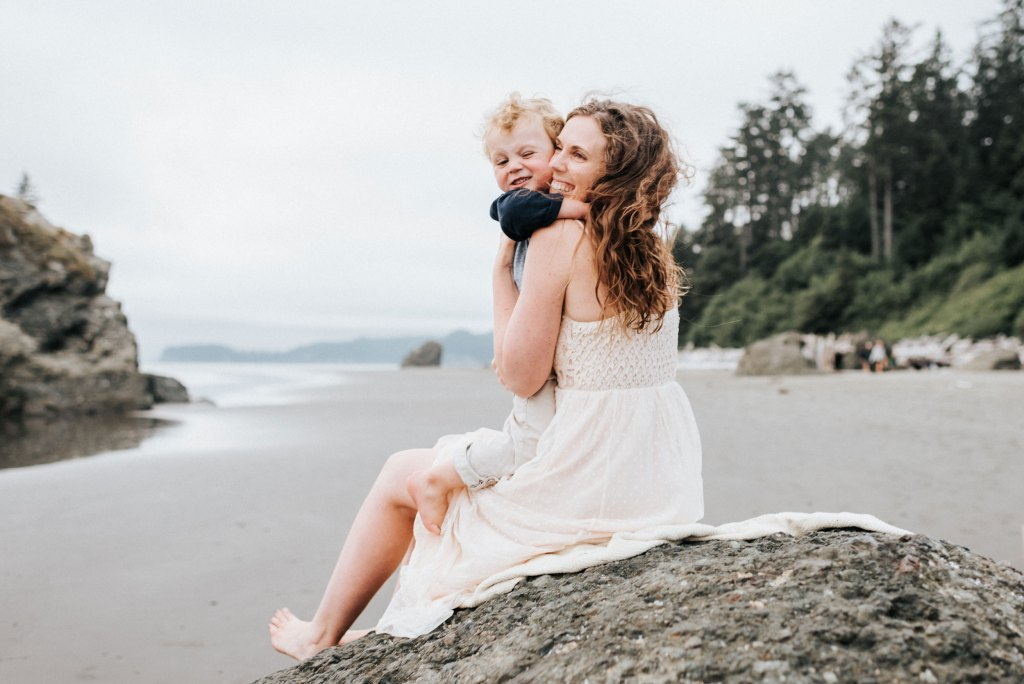 seattle family photographer ruby beach family session washington coast mom and son photograph