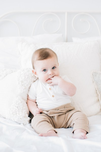 Cutest 6-month-old baby in the studio