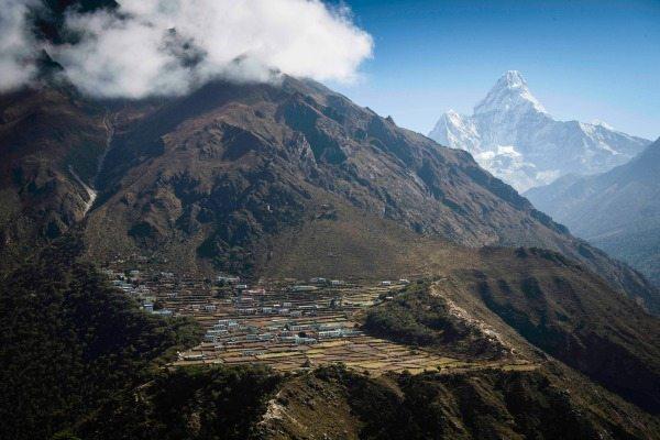 Remote Phortse village in Everest National Park.
