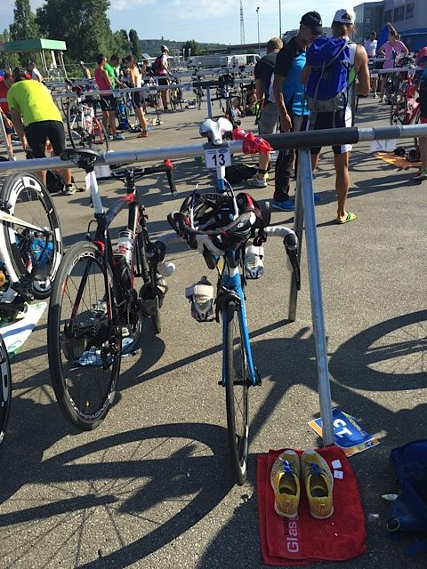 Bikes in transition.