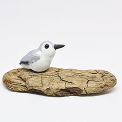 polymerclay, fimo, bird, shorebird,sanderling