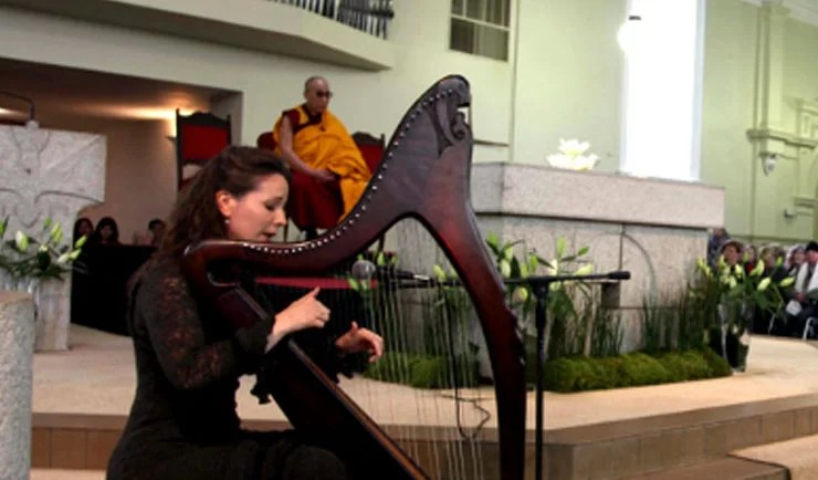 Fionnuala Gill performs for His Holiness the XIV Dalai Lama in Ireland