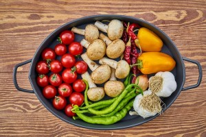 different kinds of veggies