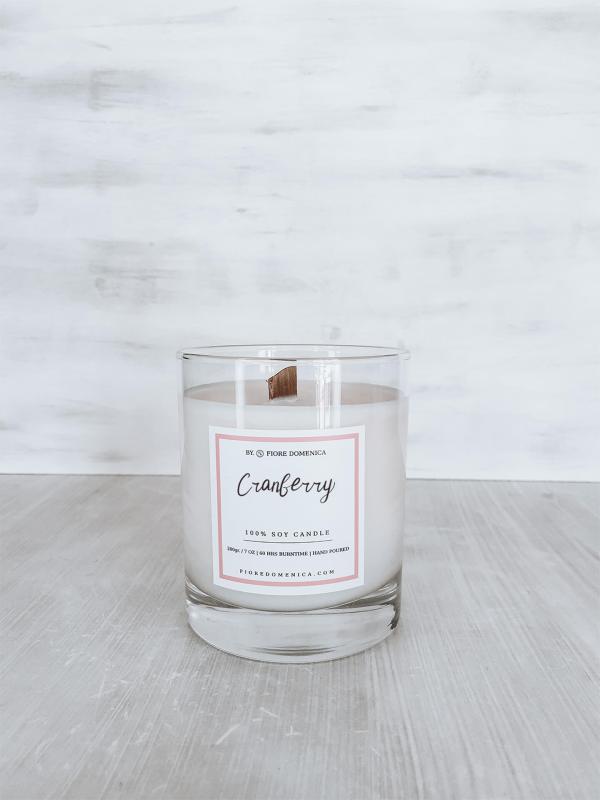 Κερί σόγιας cranberry