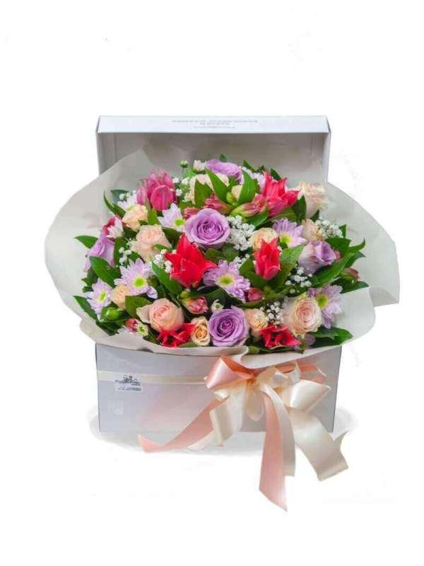 "FLOWER BOX ""MIXED FLOWERS"""