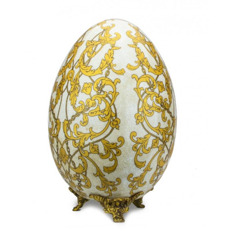 La ceramica di caltagirone è uno dei manufatti artigianali siciliani più famosi. Uovo Porcellana Inglese Piedini In Bronzo Anticato Fiori E Foglie