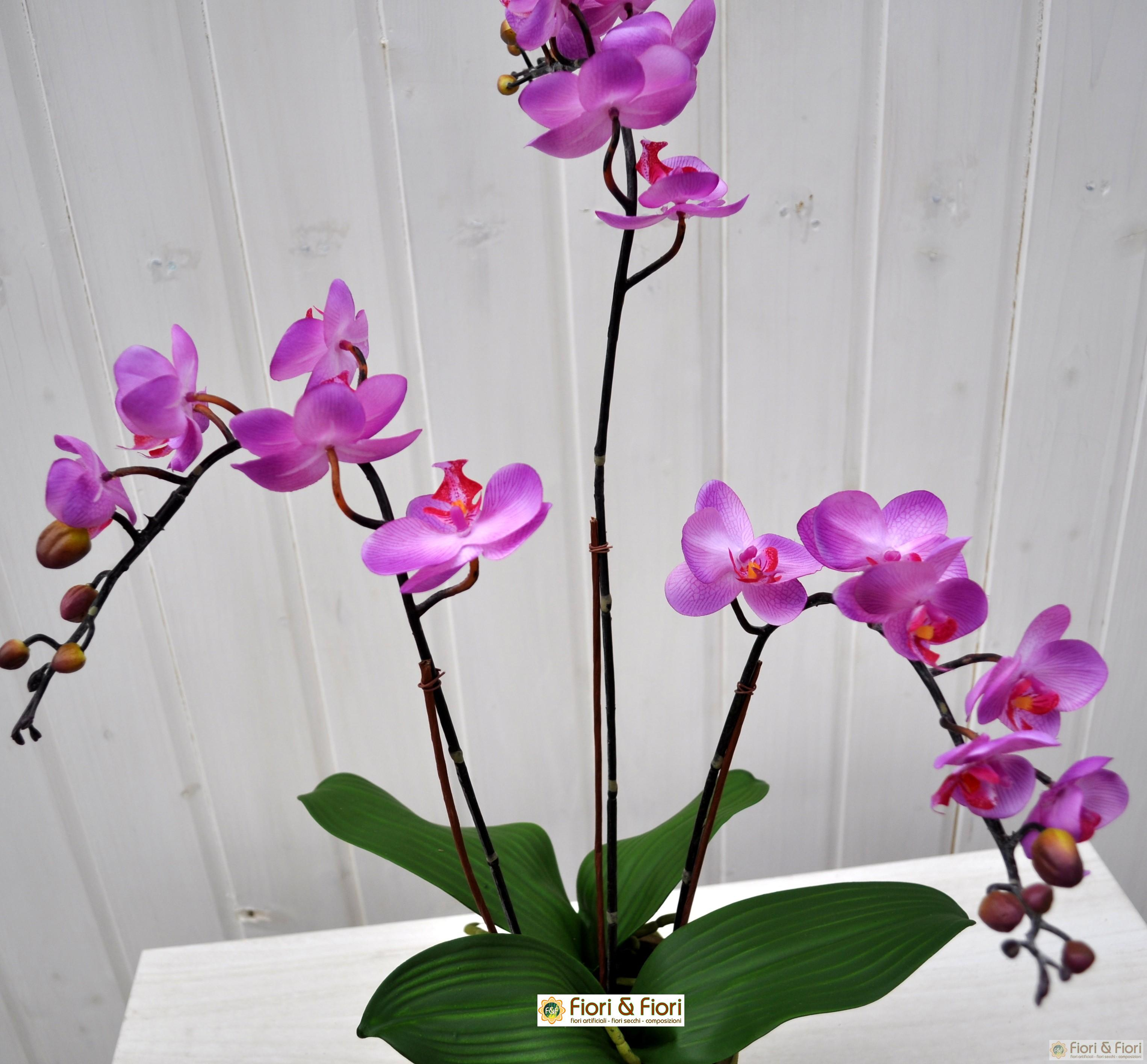 Pianta artificiale Orchidea phalaenopsis