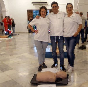 Celia, Jose Sanchez y Carolina. Carolina una profesional de la formacion