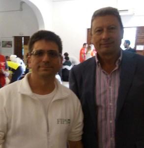 Jose Sanchez y Antonio Pajuelo Jefe del Servicio de Protección Civil de Sevilla de la Junta de Andalucía