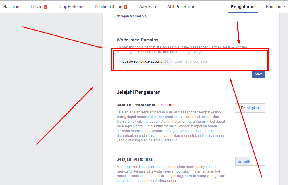 Memasang facebook customer chat di website